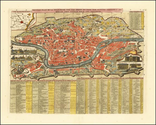 27-Rome Map By Henri Chatelain