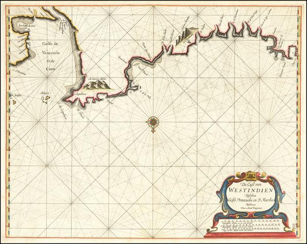 6-Venezuela Map By Arent Roggeveen / Jacobus Robijn