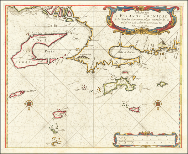 65-Other Islands and Venezuela Map By Arent Roggeveen / Jacobus Robijn
