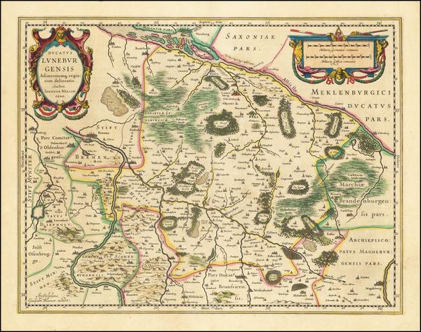 97-Norddeutschland Map By Willem Janszoon Blaeu