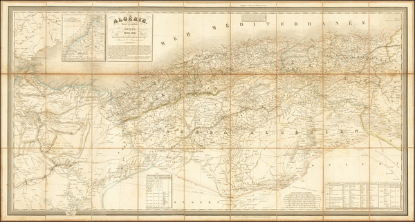 43-North Africa Map By Adolphe Hippolyte Dufour