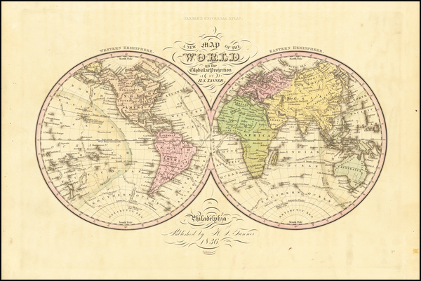 34-World Map By Henry Schenk Tanner