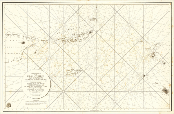 21-Caribbean, Puerto Rico and Virgin Islands Map By Direccion Hidrografica de Madrid
