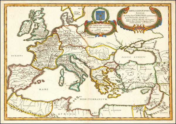 93-Europe, Turkey, Mediterranean and Turkey & Asia Minor Map By Pierre Du Val