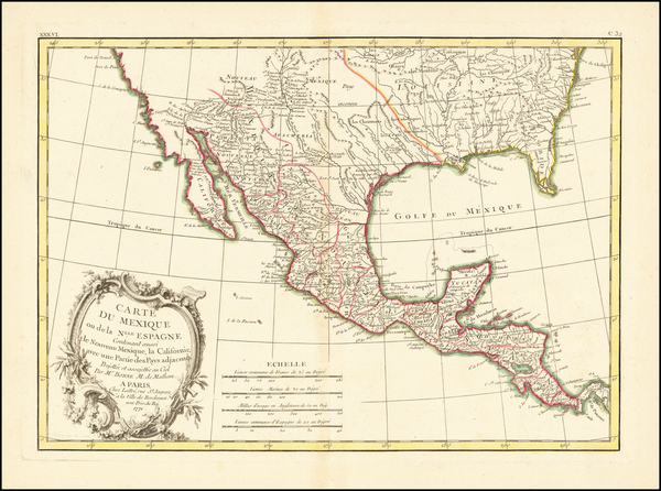 39-Texas, Southwest and Mexico Map By Jean Lattre
