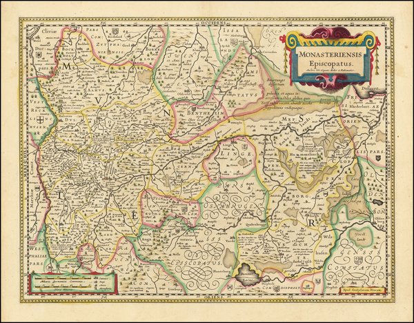 45-Germany Map By Willem Janszoon Blaeu