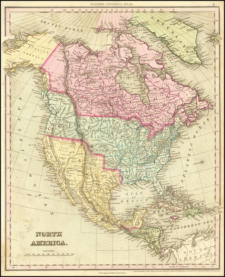 48-North America Map By Henry Schenk Tanner