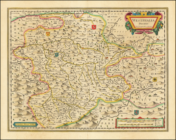 17-Germany Map By Willem Janszoon Blaeu