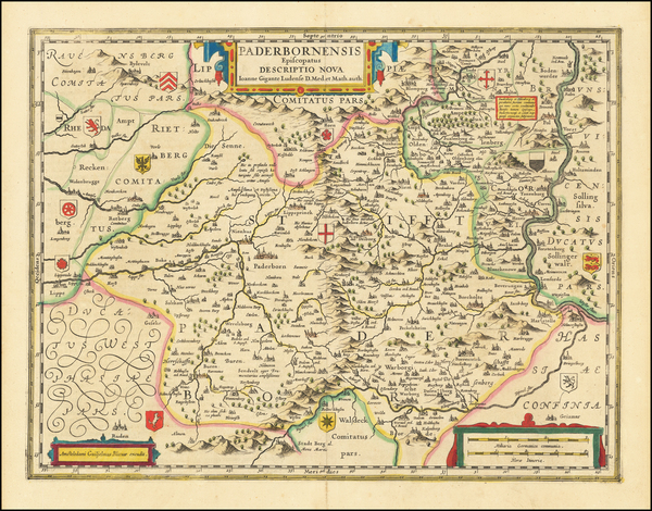 33-Germany Map By Willem Janszoon Blaeu