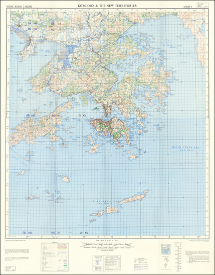 71-China and Hong Kong Map By Geographical Section, War Office (UK)