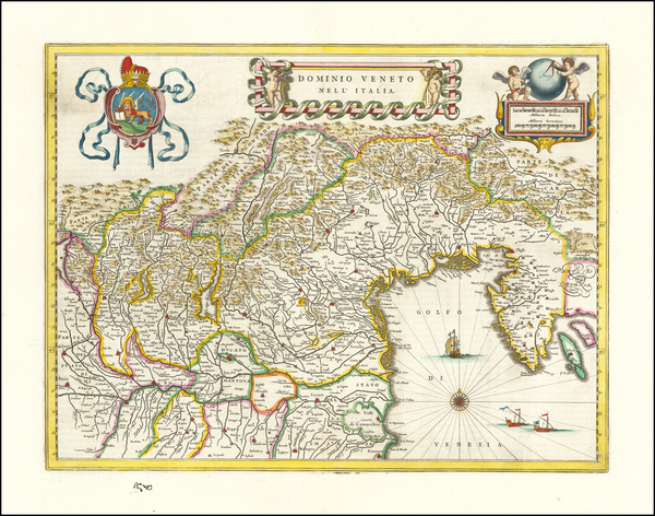 44-Northern Italy Map By Willem Janszoon Blaeu
