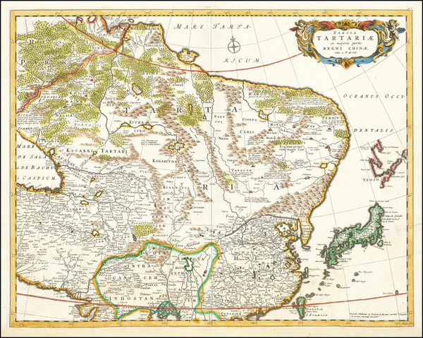 53-China, Central Asia & Caucasus and Russia in Asia Map By Frederick De Wit