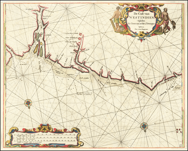 58-Guianas & Suriname Map By Arent Roggeveen / Jacobus Robijn