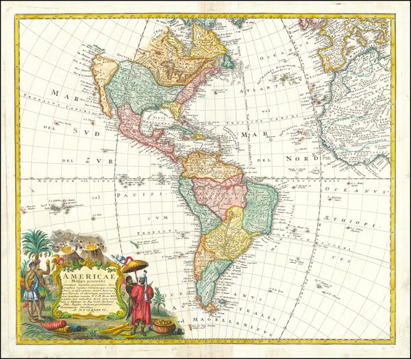 64-America Map By Homann Heirs / Johann Matthaus Haas