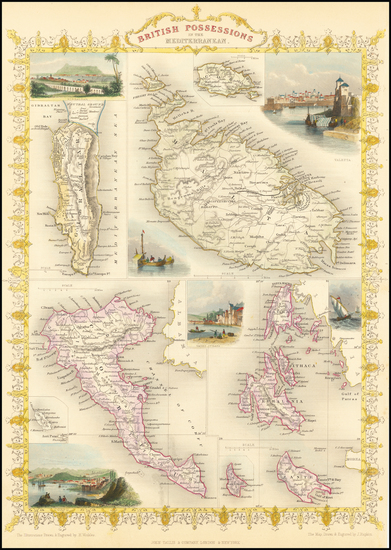 26-Greece, Mediterranean and Malta Map By John Tallis