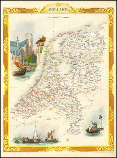 91-Netherlands Map By John Tallis