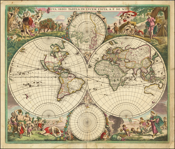 61-World and World Map By Frederick De Wit