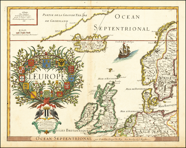 17-Europe, British Isles, Scandinavia and Iceland Map By Pierre Du Val