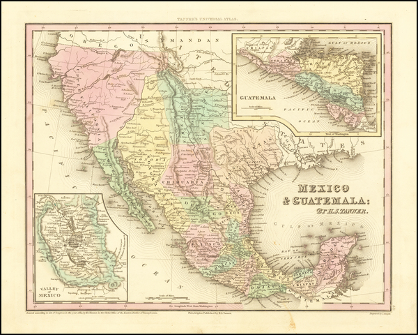 40-Texas, Southwest, Mexico and California Map By Henry Schenk Tanner