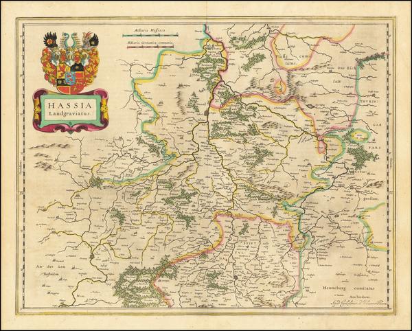 59-Germany Map By Willem Janszoon Blaeu