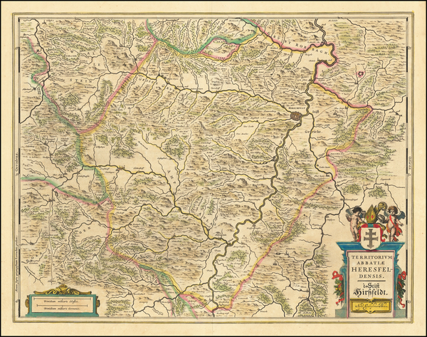 90-Europe and Germany Map By Willem Janszoon Blaeu