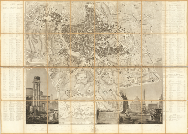 81-Rome Map By Luigi Piale