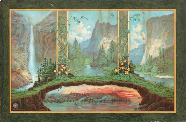 94-California, San Francisco and Yosemite Map By Carl Dahlgren