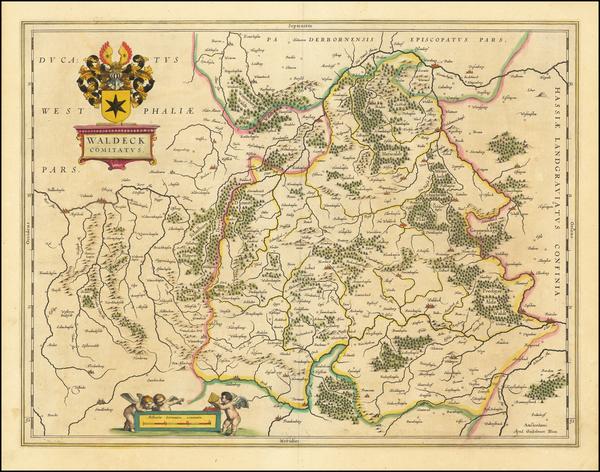60-Germany Map By Willem Janszoon Blaeu