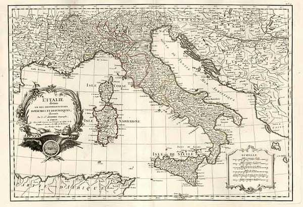 86-Europe, Italy, Mediterranean and Balearic Islands Map By Jean Janvier