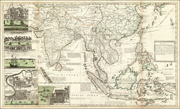 70-India and Southeast Asia Map By George Grierson