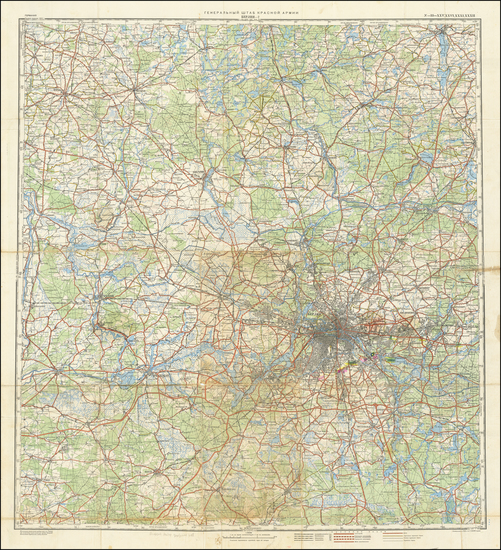 45-Germany and World War II Map By General Staff of the Red Army