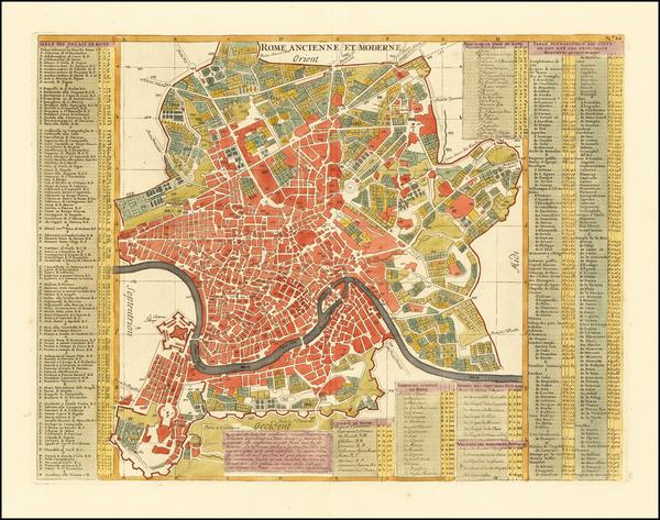 54-Rome Map By Henri Chatelain
