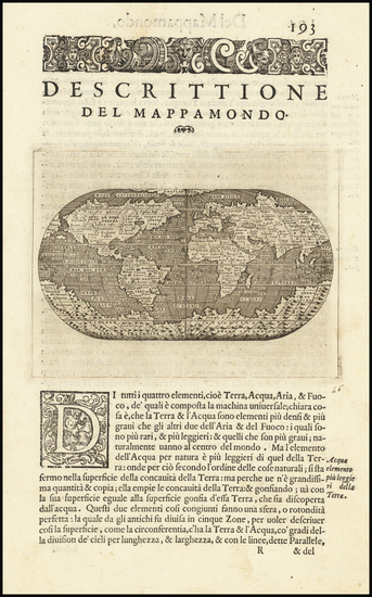 70-World Map By Tomasso Porcacchi