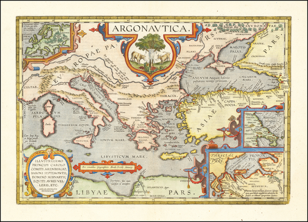 37-Greece, Turkey, Mediterranean and Turkey & Asia Minor Map By Abraham Ortelius