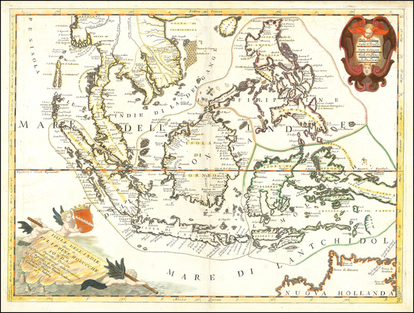 84-Southeast Asia and Philippines Map By Vincenzo Maria Coronelli
