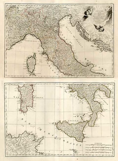 40-Europe, Italy, Mediterranean and Balearic Islands Map By Jean Lattré