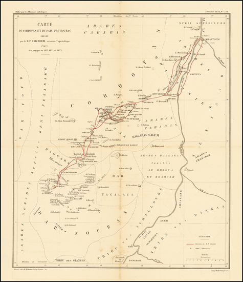 66-Egypt, North Africa and East Africa Map By Les Missions catholiques