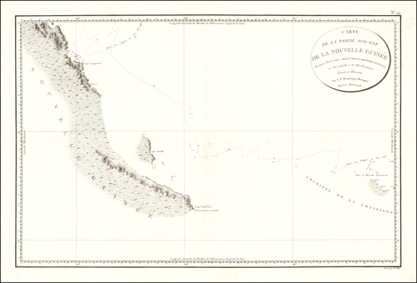 25-Other Pacific Islands Map By Antoine Brun D'Entrecasteaux