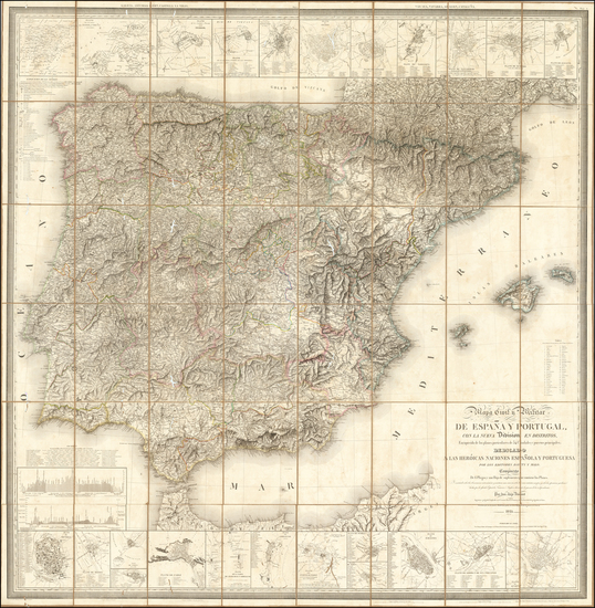 81-Spain and Portugal Map By