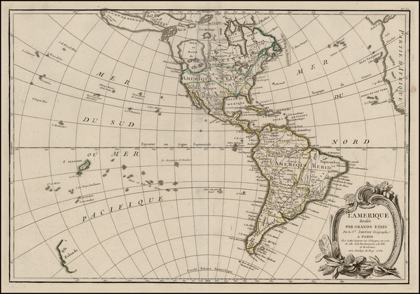 65-Alaska, South America and America Map By Jean Janvier