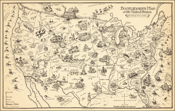 38-United States and Pictorial Maps Map By Edward Gerstell McCandlish