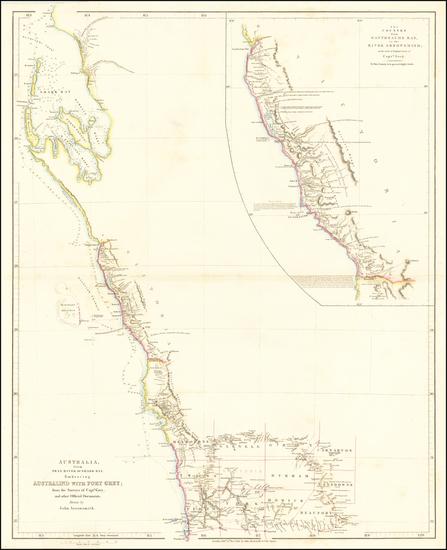 62-Australia Map By John Arrowsmith