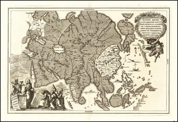 52-Asia Map By Heinrich Scherer
