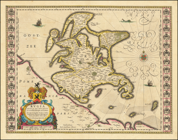 87-Europe and Netherlands Map By Willem Janszoon Blaeu