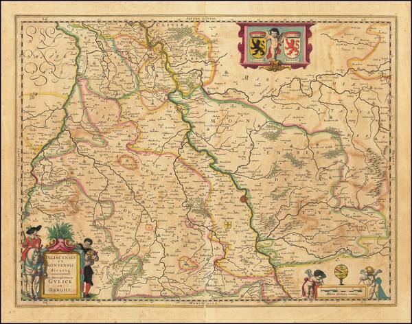 68-Germany Map By Willem Janszoon Blaeu