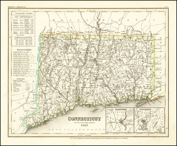 67-Connecticut Map By Joseph Meyer