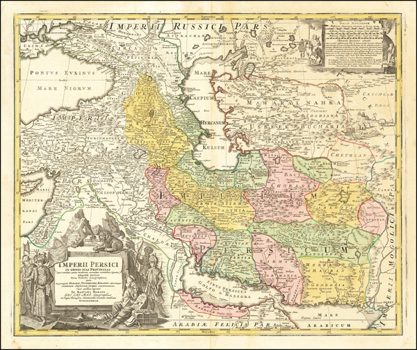 74-Central Asia & Caucasus and Persia Map By Johann Baptist Homann