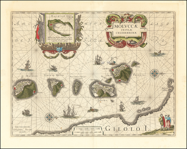 34-Indonesia and Other Islands Map By Willem Janszoon Blaeu