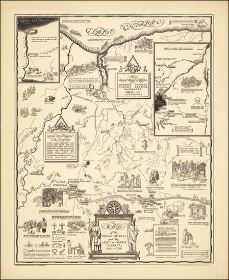 34-New York State Map By Helen M. Erickson / Alexander McGinn Stewart