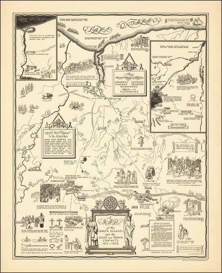 5-New York State Map By Helen M. Erickson / Alexander McGinn Stewart